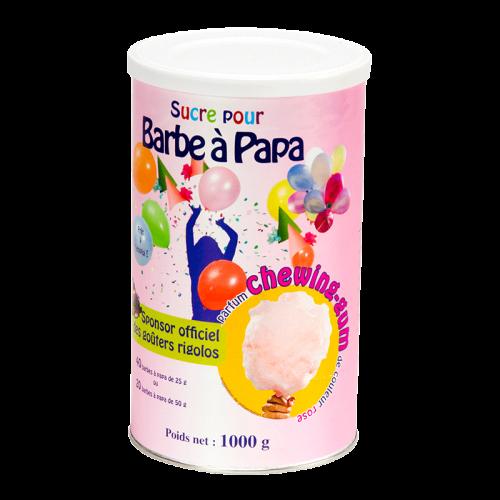 Sucre rose pour barbe à papa parfum chewing gum 1 kg
