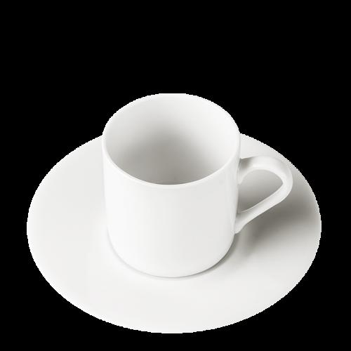 Lot de 12 tasses et sous-tasses à café Harmony Pop's