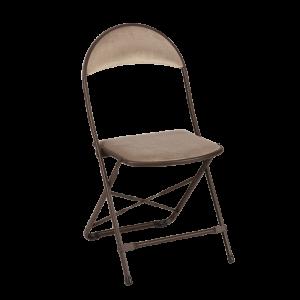 Chaise capitonnée taupe