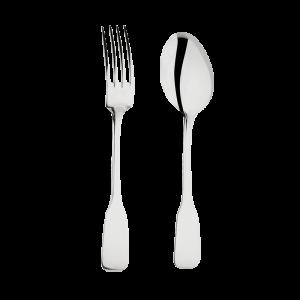Fourchette et cuillère de service inox Pop's